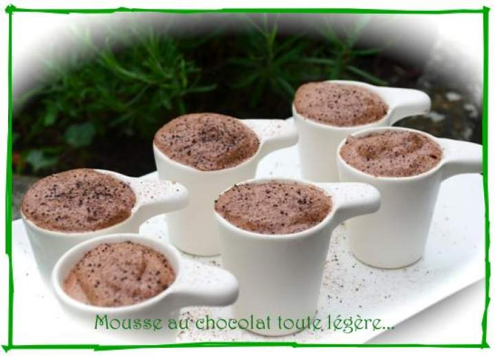 Recette thermomix mousse au chocolat toute l g re photo - Cuisine legere thermomix ...