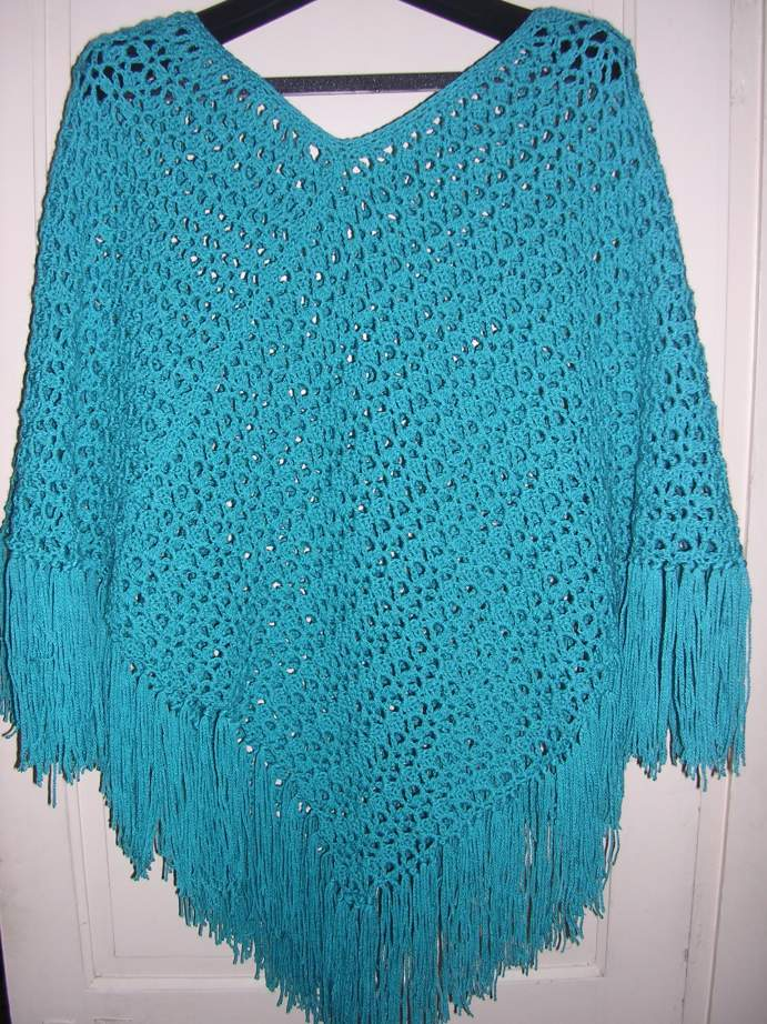 EASY-CROCHET PONCHO - Designs by KN