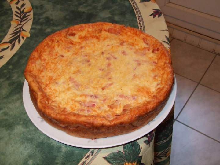 quiche lorraine sans p 226 te photo