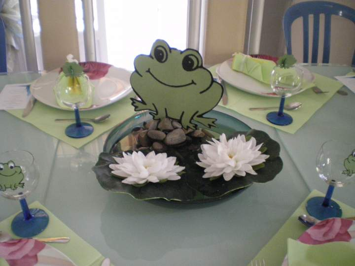déco de table grenouille #2